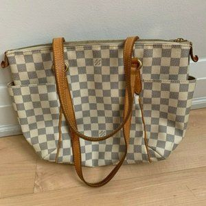 Louis Vuitton Auth Damier Azur Totally PM Shoulder